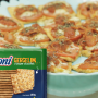 Pizza de biscoito cream cracker gergelim Sarloni