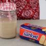 Milkshake com biscoito maisena Sarloni