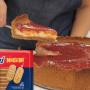 Cheesecake de goiabada com biscoito maisena Sarloni