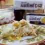 Pavê de pêssego com biscoito de coco Sarloni