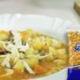 Sopa de legumes com macarrão joelho Sarloni